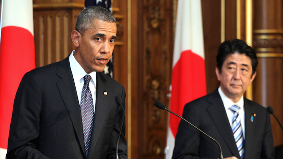 Obama reaffirms commitment to Japan on tour of Asian allies