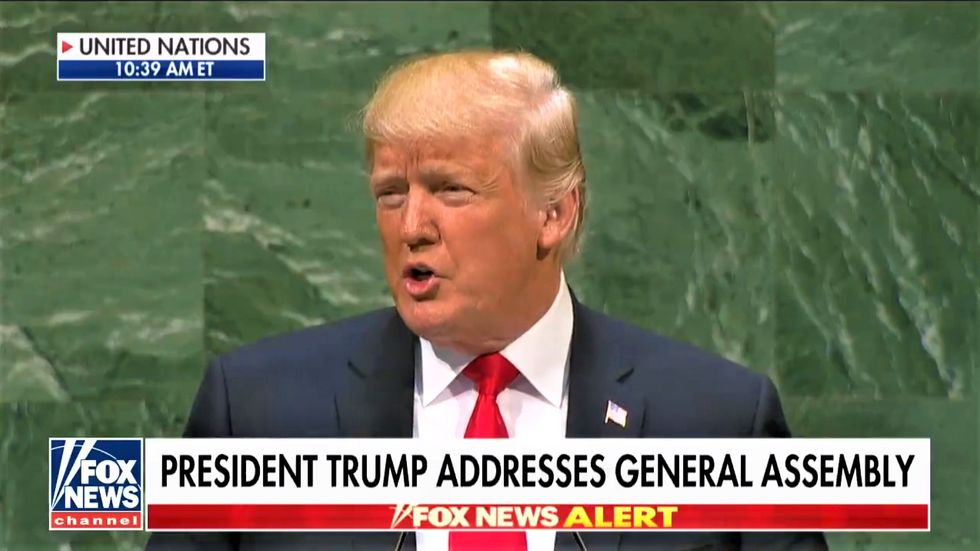 Fox News clip abruptly cuts off Trump's UN speech just before world leaders start laughing at him