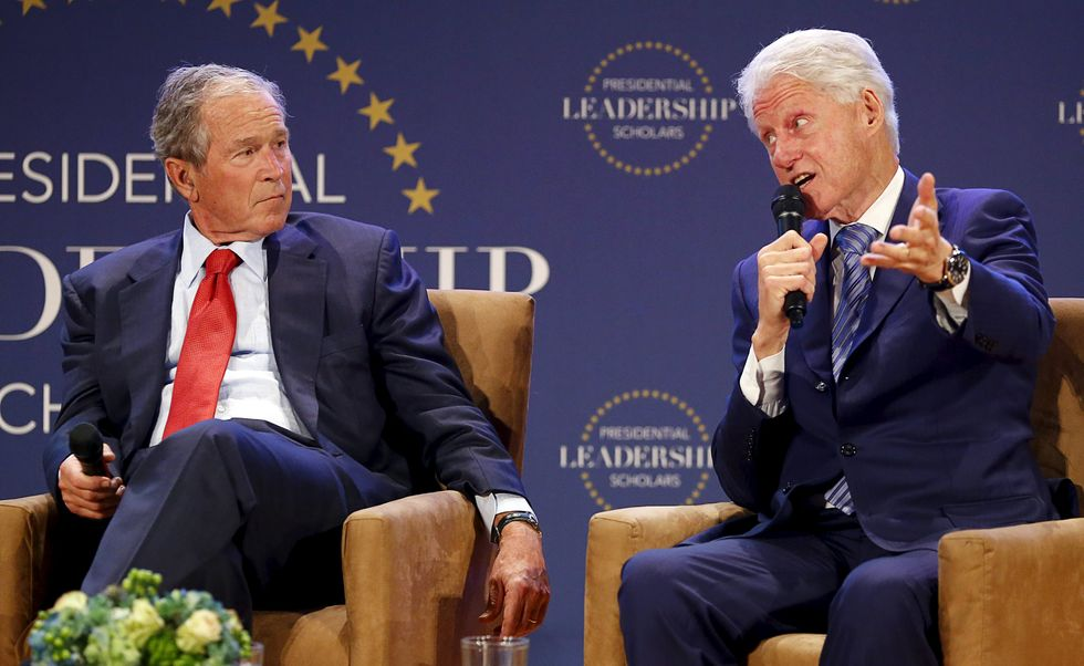 George W. Bush and Bill Clinton trade quips and insights about 2016 race at Texas event