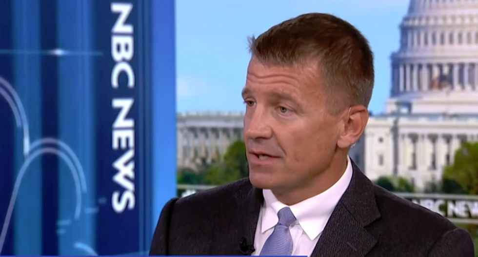 Viewers fume after MSNBC gives a 'megaphone' to Trump-loving 'warmonger' Erik Prince
