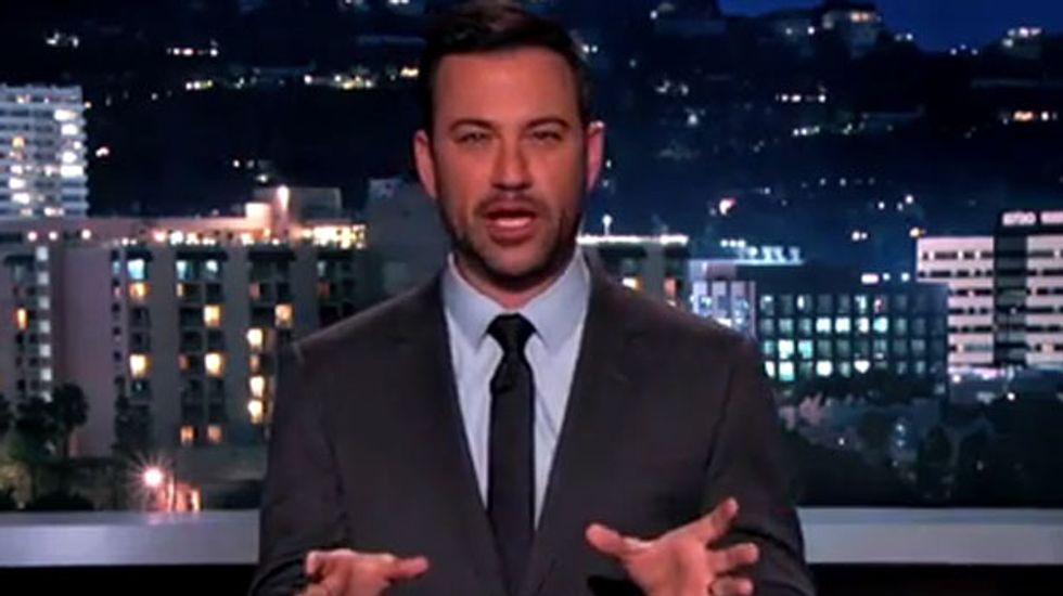 Jimmy Kimmel mocks The Drudge Report's freak out over Obama bowing to Japanese robot
