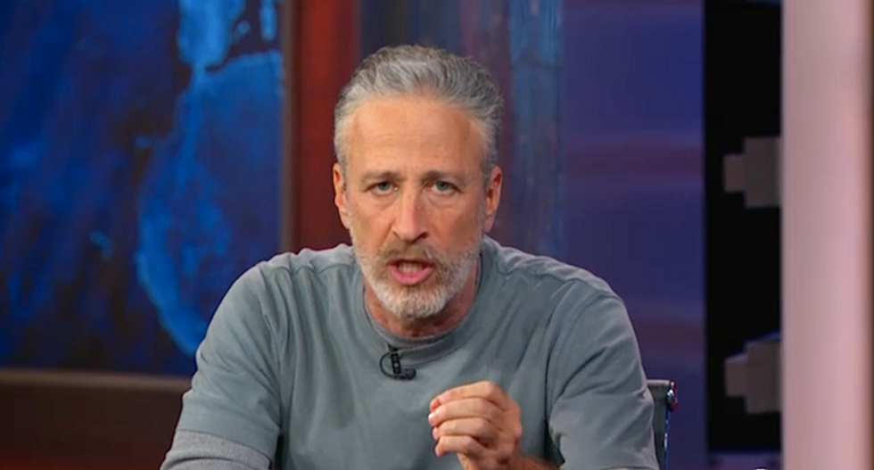 Jon Stewart is right: How long will the media continue to play Trump's game?
