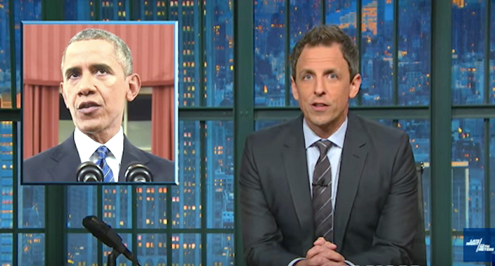 Seth Meyers rips GOP fury over Obama's wording in terror speech: This isn't a spell -- and he's not Harry Potter