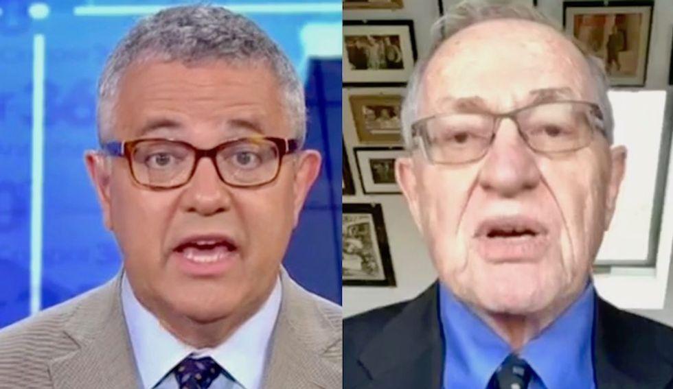 WATCH: CNN's Toobin destroys Alan Dershowitz for whining Manafort was 'unfairly' jailed