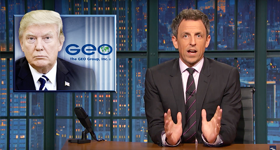 EXPOSED: Seth Meyers calls out Trump for using taxpayer dollars to repay prison industry campaign donors
