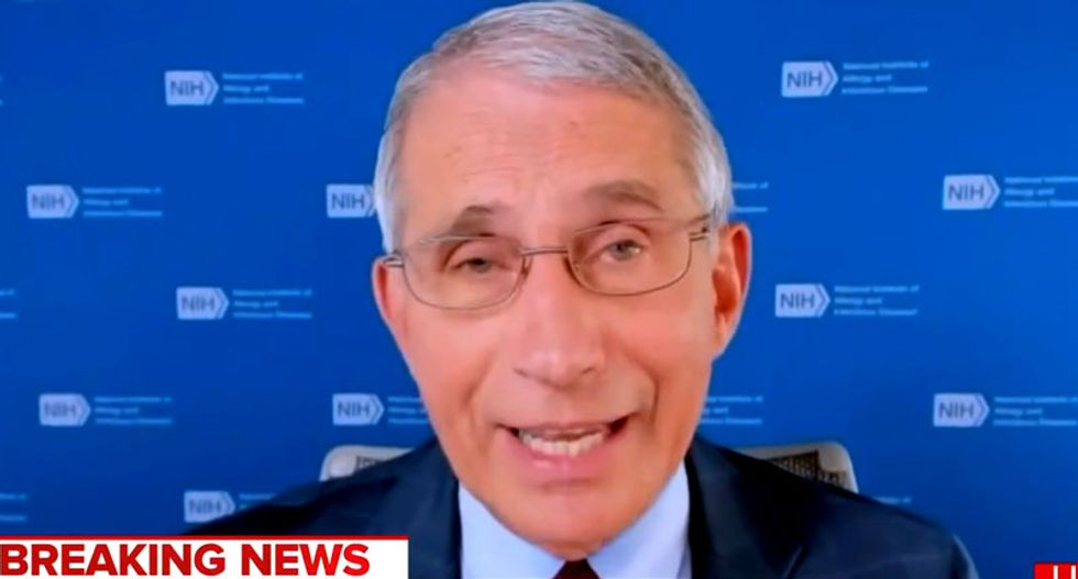 WATCH: Anthony Fauci sneaks in a slam of Trump during MSNBC interview
