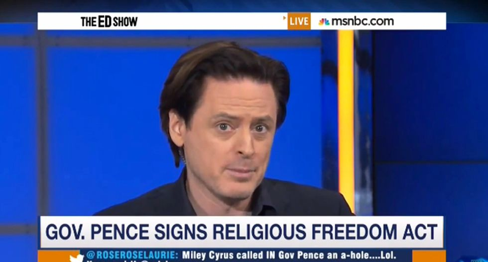 John Fugelsang: Mike Pence should be grateful there isn't a law prohibiting 'serving fake Christian bigots'