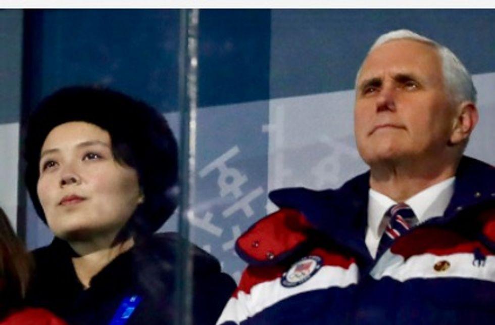Pence slams North Korea leader's 'tyrannical' sister after near meet