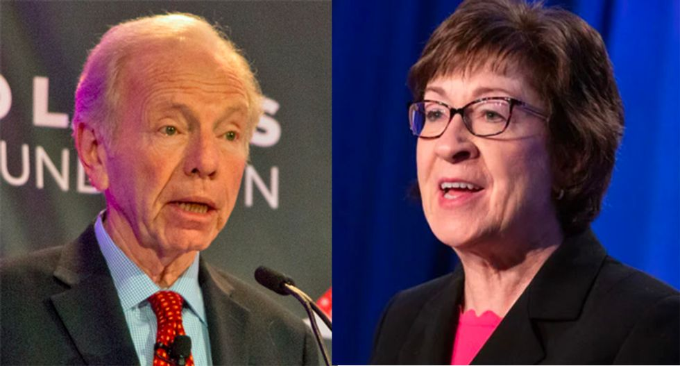'Worthless' Joe Lieberman ridiculed over his endorsement of Susan Collins: 'She's done for'