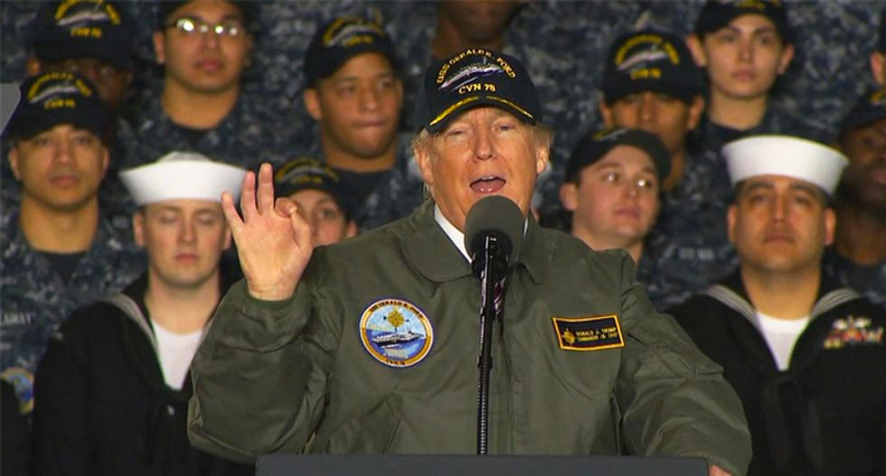 Trump treats the military as his own – and the troops could suffer