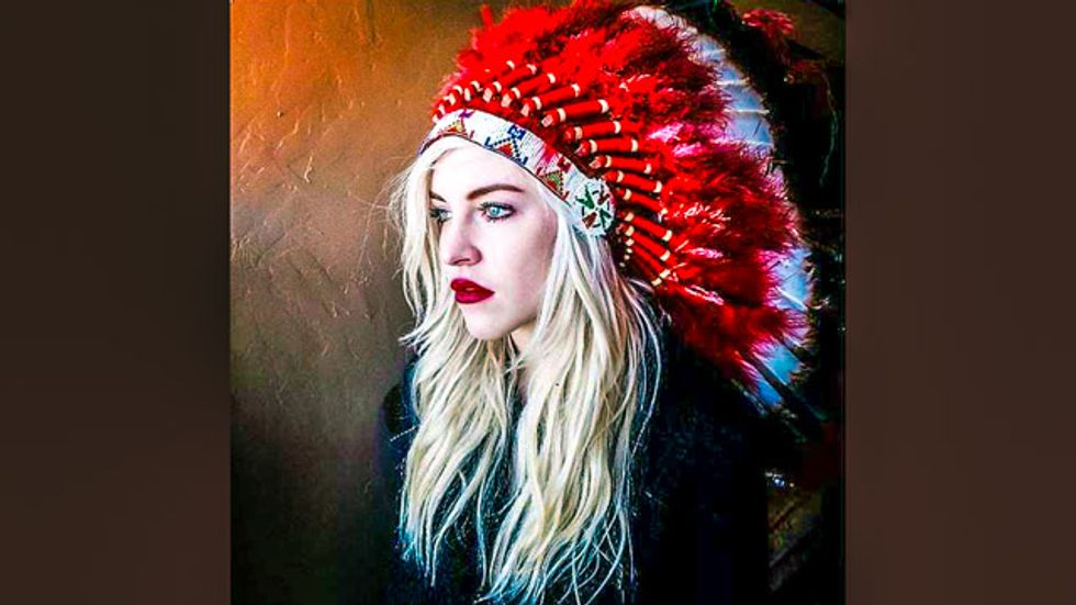 Oklahoma governor's daughter mocks Native American protesters with 'war dance'