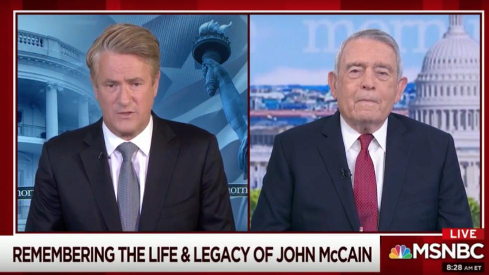 Dan Rather tells MSNBC's Morning Joe how John McCain became the 'popular everyman hero'