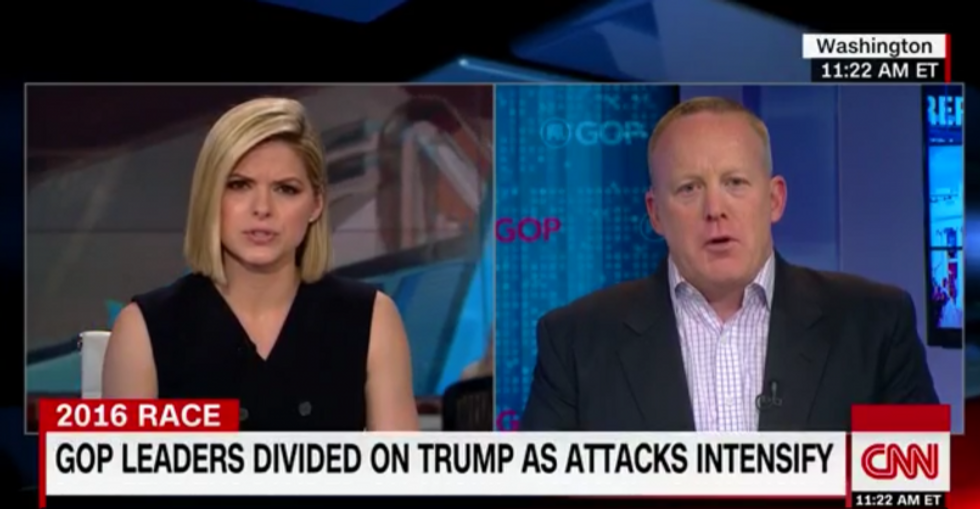 RNC spokesman desperately tries to paper over Trump's racism in train wreck CNN interview
