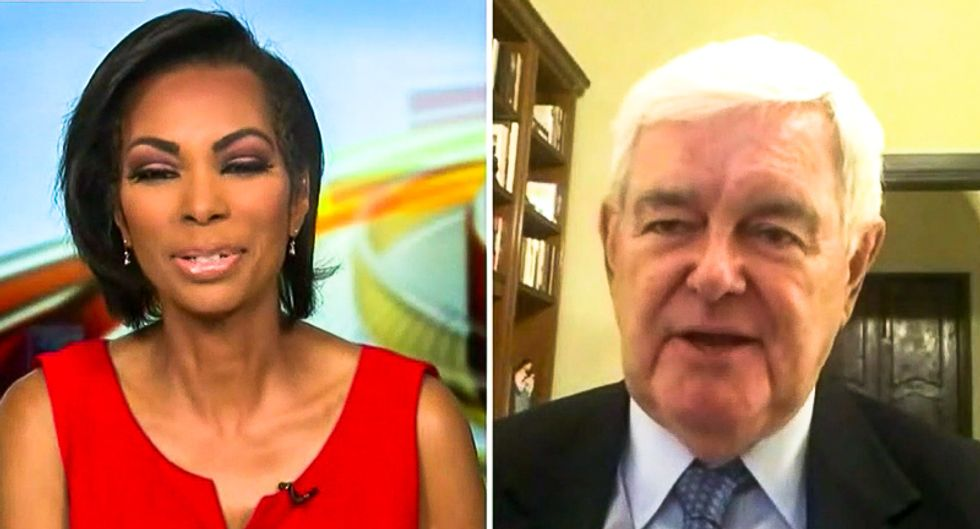 'It's verboten?' Newt Gingrich cries out after Fox News cuts him off for blaming violence on George Soros
