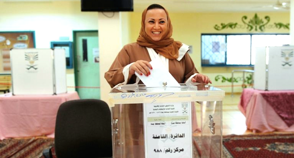 Saudi women vote for first time, sending 14 women to council seats: 'We need more'