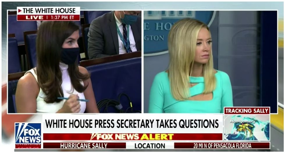 'He didn't say that': Reporter battles Kayleigh McEnany after she claims Trump promoted masks at town hall