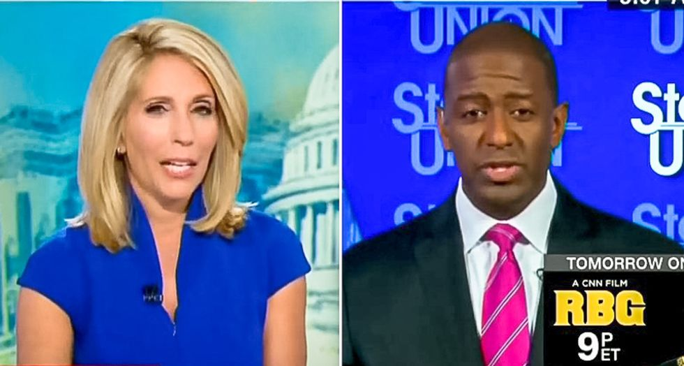 CNN host interrupts Florida candidate Andrew Gillum eight times after he is targeted by racist robocall