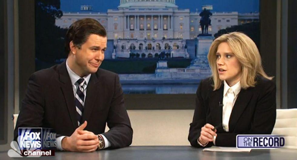 WATCH: SNL's Greta Van Susteren's frustrating attempts to interview babbling Ted Cruz and Ben Carson