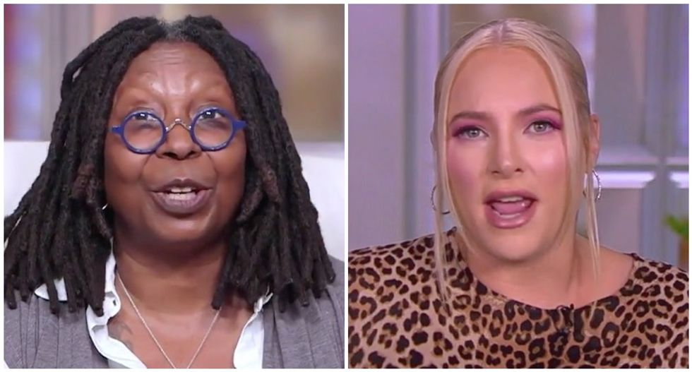 The View's Meghan McCain changes subject away from Trump's town hall flop — but Whoopi Goldberg sets her straight
