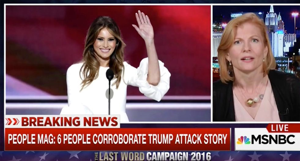 WATCH: Ana Marie Cox blasts Melania Trump's 'loathsome' dismissal of sex assault victims