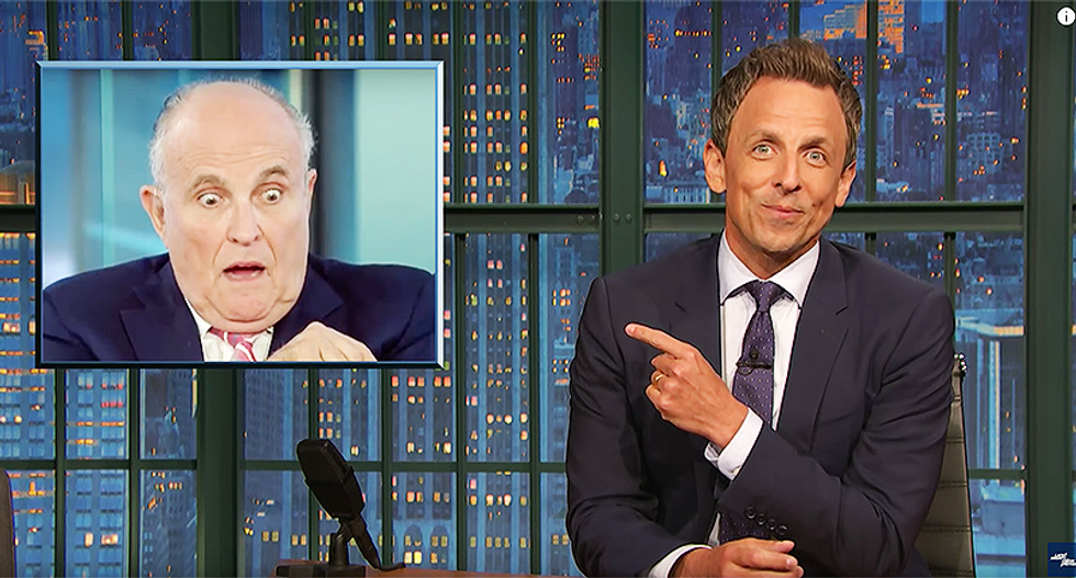Seth Meyers jokes that working in Trump's White House is like a 'kick in the nuts' -- it's why Giuliani looks like this