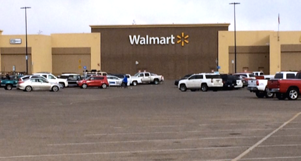 Gunman shot and killed after taking co-worker hostage at Walmart in Texas