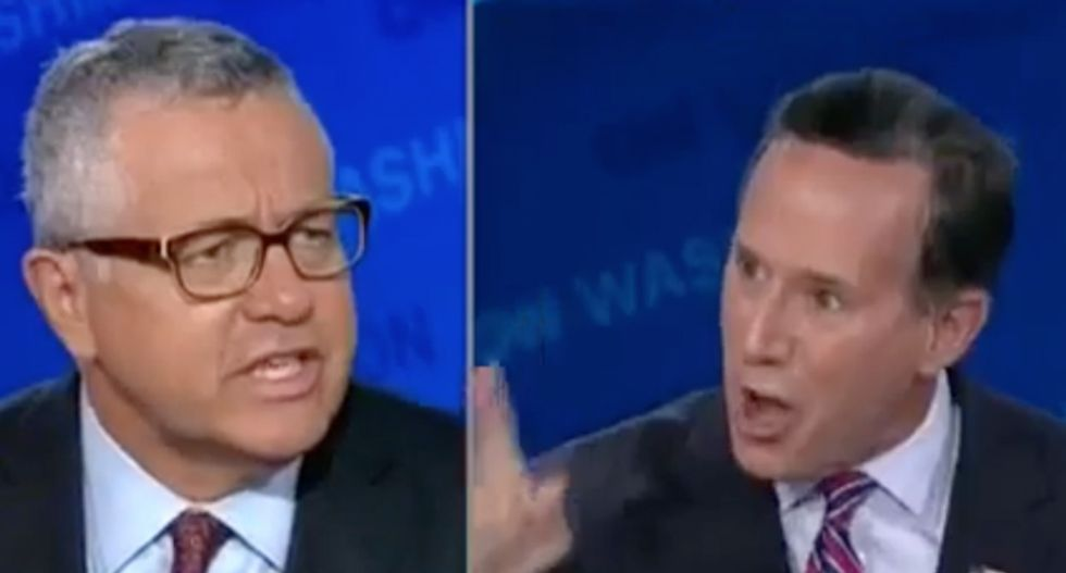 CNN's Rick Santorum throws a fit over gay cupcakes and gets smacked down by Jeffrey Toobin