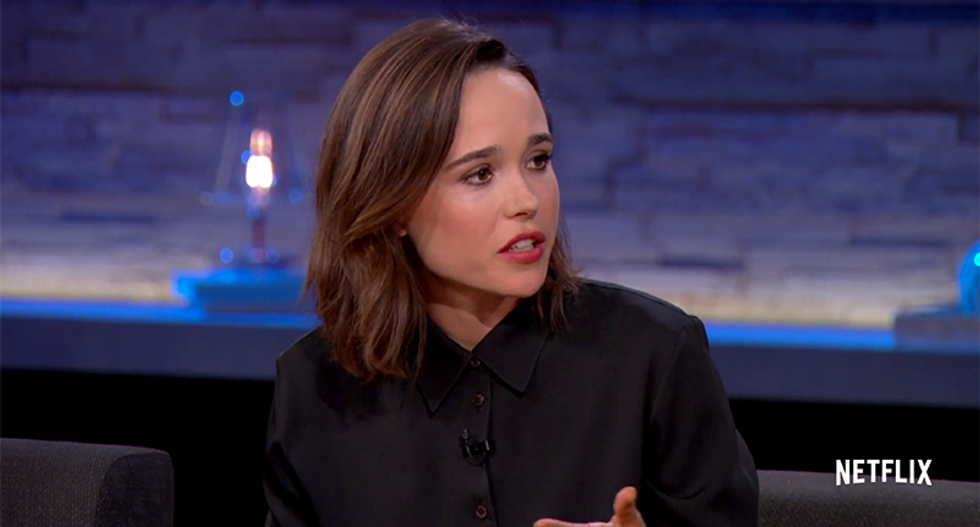 Ellen Page fights back tears describing the hateful 'poison' that led up to the Orlando shooting