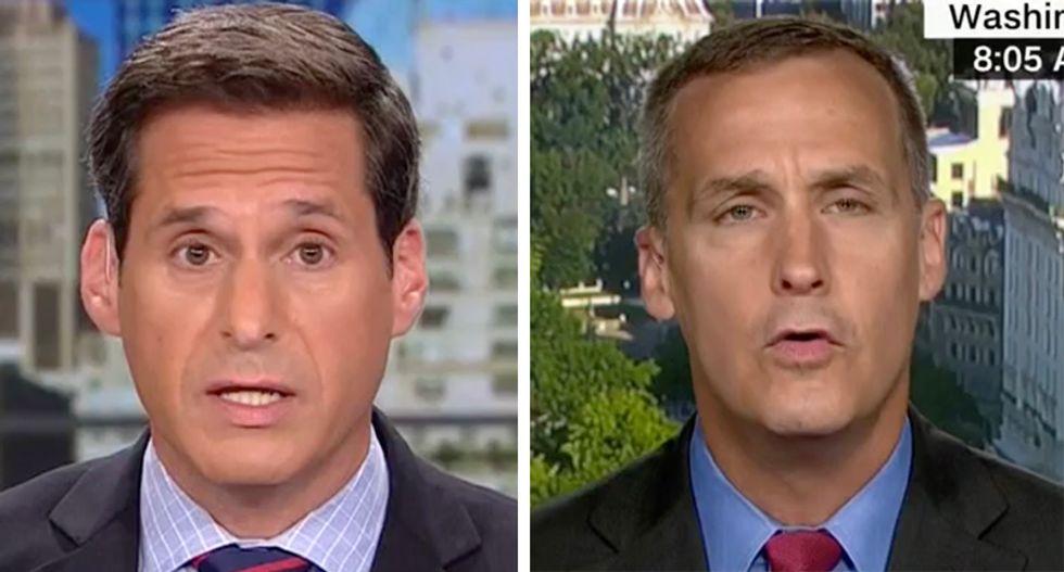Watch CNN's Berman fact check Corey Lewandowski's manic attack on the White House 'resistance' leaker