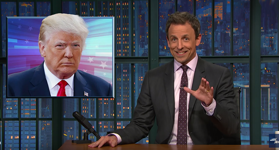 Seth Meyers smashes Trump's racist lies: 'We cannot allow this to become normalized'