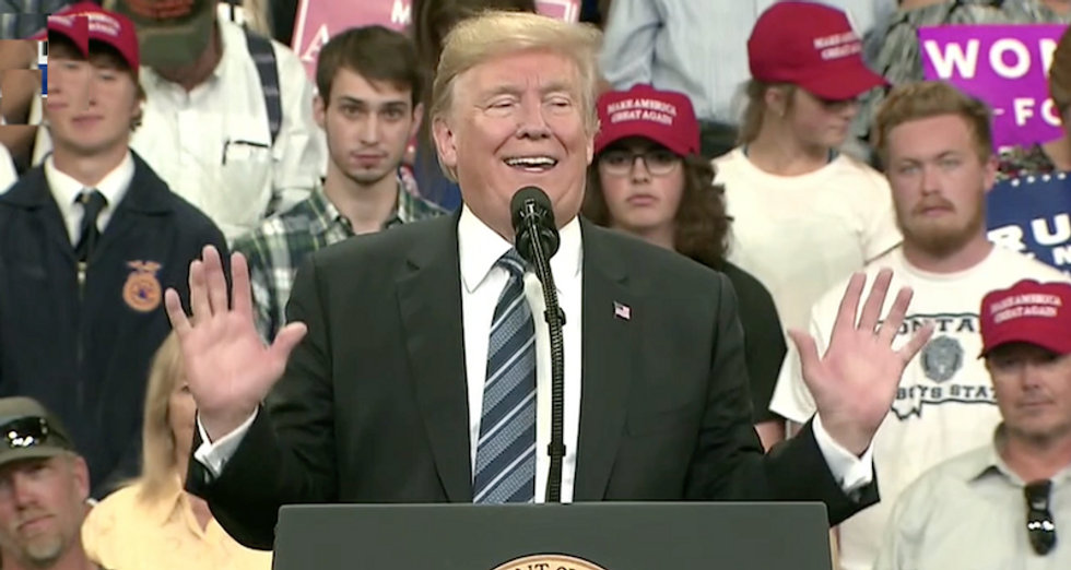 Trump bizarrely says babies come out and 'talk' to their mothers before liberals 'execute' them