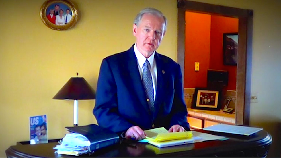 Long-shot 'Christian Party' presidential candidate who wants to ban gays from TV arrested for stalking ex-wife