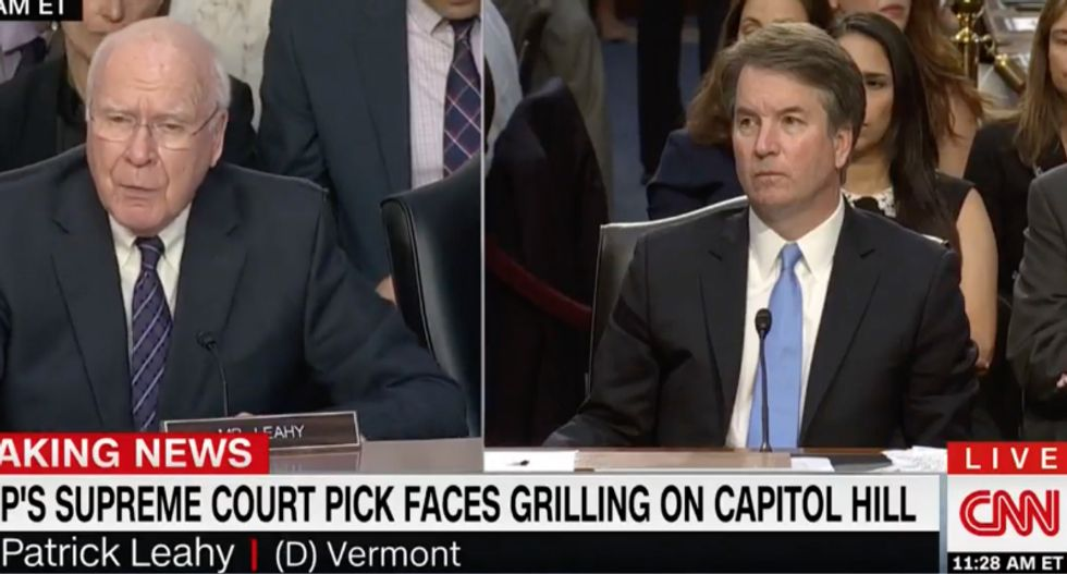 Pat Leahy confronts Brett Kavanaugh with evidence he's a liar: 'I was born at night, but not last night'