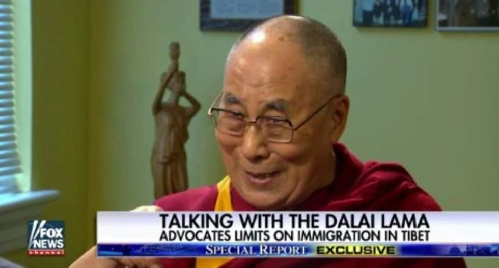 The Dalai Lama brushes off anti-immigration GOP: 'All white Americans come from outside'
