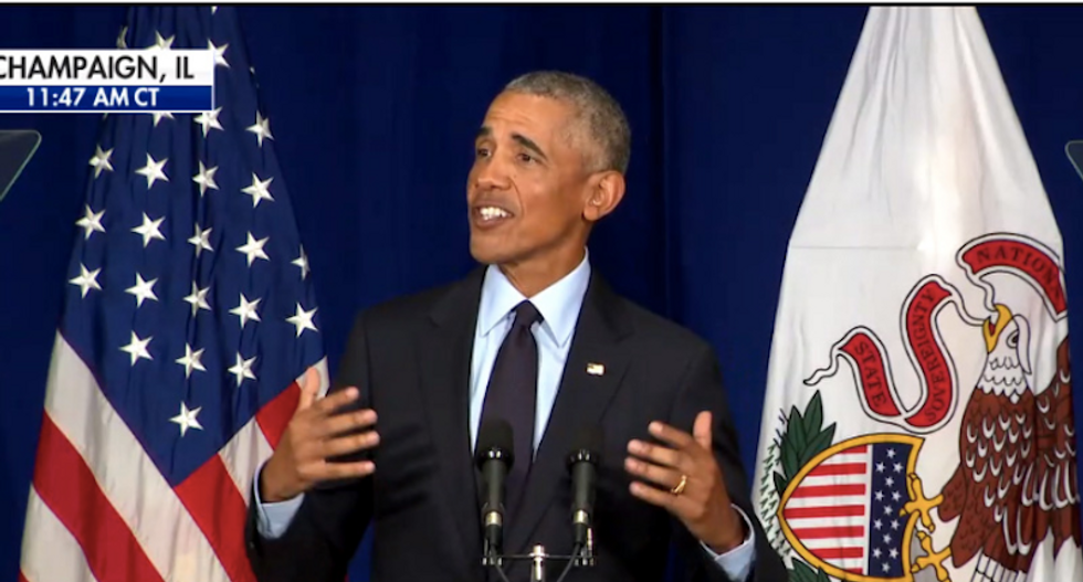 Obama mocks Trump as Mueller closes in: 'No one in my administration got indicted'