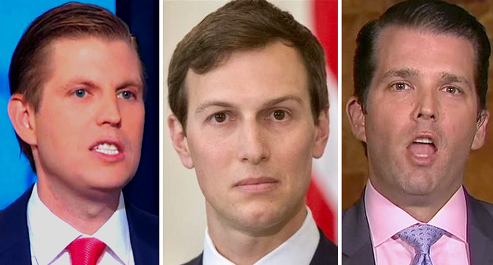 Trump has surrounded himself with 'failsons' starting with 'dimwitted' Don Trump Jr. and Kushner: columnist