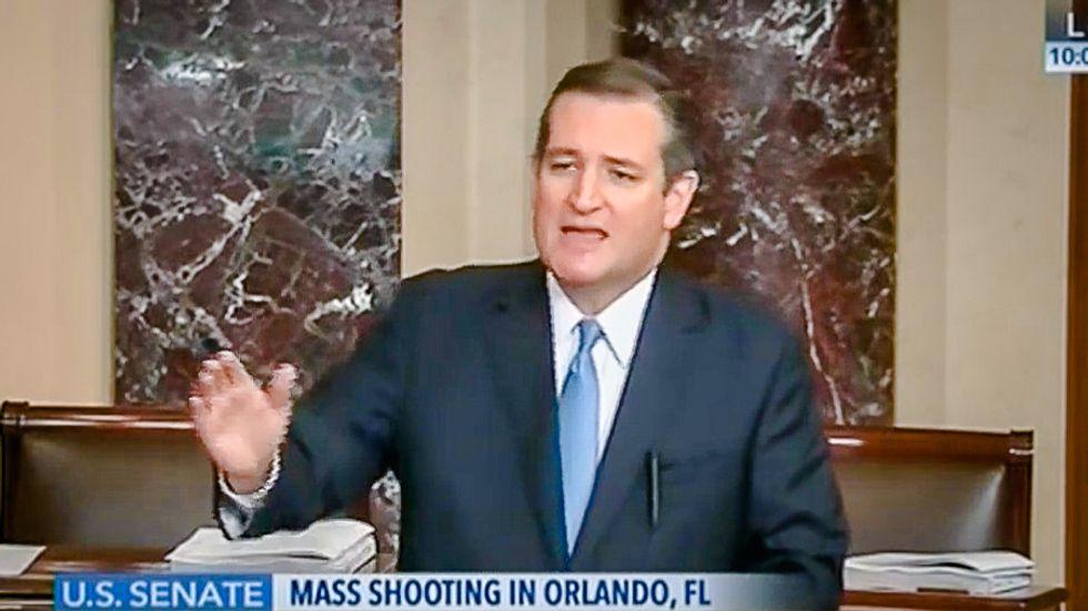 Ted Cruz, who read Dr. Seuss on Senate floor, attacks Dems for 'ridiculous' anti-gun filibuster