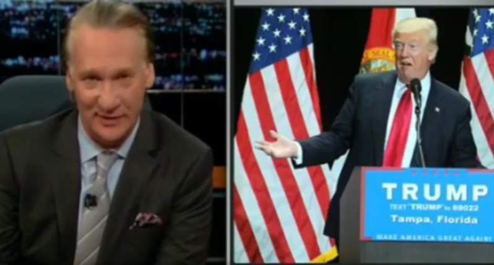 Bill Maher: If Hillary insulted McCain like Trump, 'they'd be burning pantsuits in effigy'