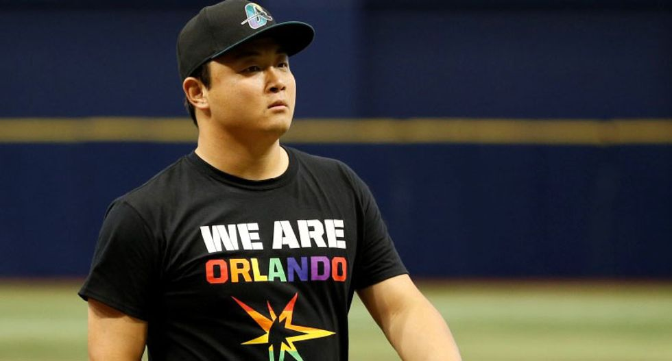 Florida's Tampa Bay Rays turn Pride Night at the ballpark into 'We Are Orlando' night