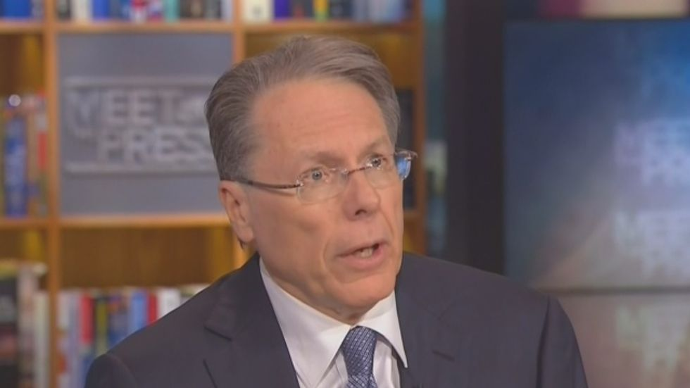 NBC host confronts LaPierre's call for more 'good guys with guns': 'Where does it stop?'