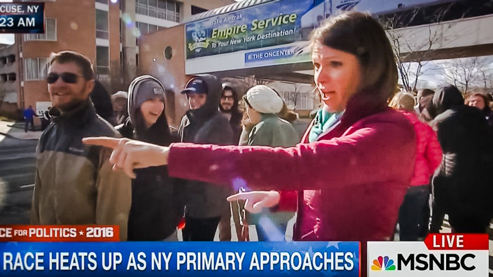 Bernie crowd shuts down MSNBC reporter trying to prove his supporters aren't registered Dems