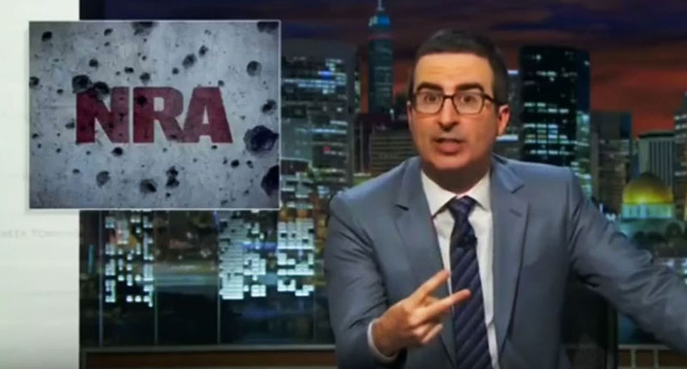 WATCH: John Oliver lambastes lawmakers for continuing to block gun research as the bodies pile up