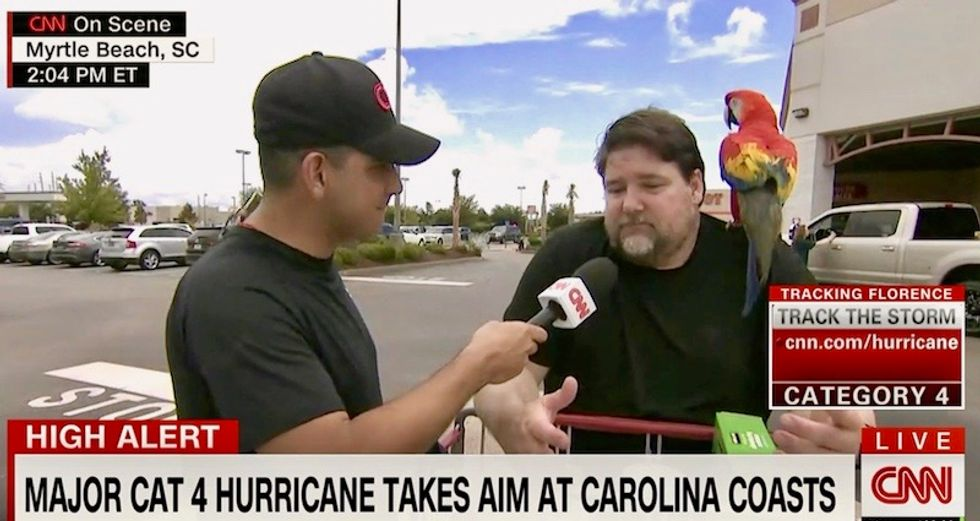 'I'd just rather be at home': Carolinians refuse to evacuate as 'unprecedented' storm bears down on them