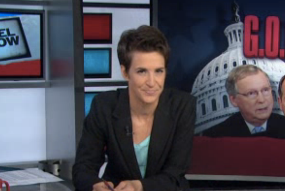 Maddow: Republicans like 'a bag of blindfolded, hungry weasels' on angel dust