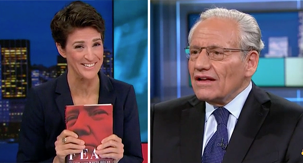 Bob Woodward explains Trump's supreme lack of rational thinking to MSNBC's Rachel Maddow: 'He closes his mind'