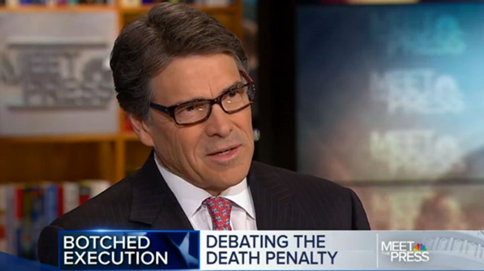 Texas Gov. Rick Perry unsure if botched Oklahoma execution was 'inhumane'