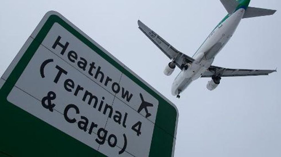 UK police arrests two for drone disruption at London airport