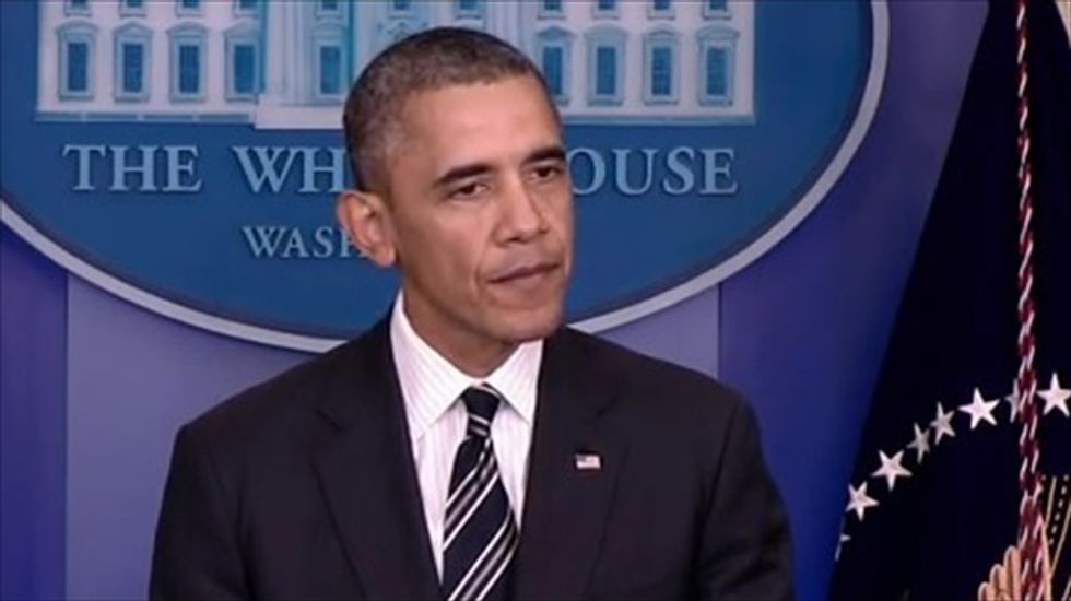 Obama urges Congress to stop 'farce' and end shutdown