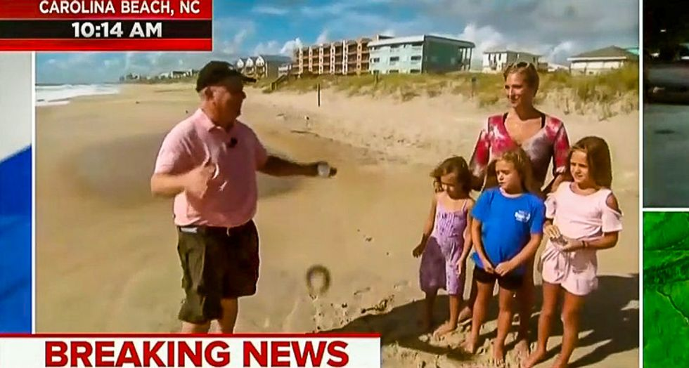 Woman on NC coast tells MSNBC she's not evacuating her kids because there's 'strength in numbers'