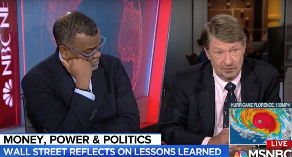Conservative goes down in flames after ranting about Democratic 'Marxism' on MSNBC